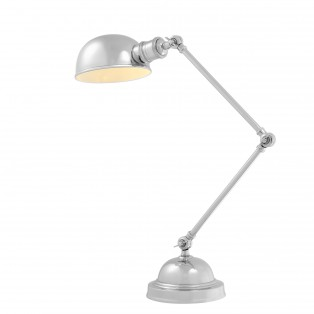 LAMPA Desk Lamp Soho nickel finish 21,5X17X60CM