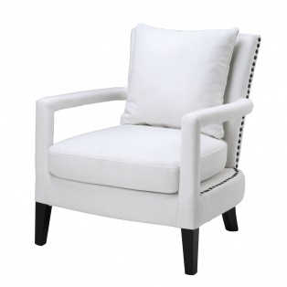 FOTEL CHAIR GREGORY WHITE 70x70x81cm