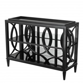 KONSOLA Console Table Forsythe piano black finish 124x46x90cm