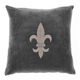 Pillow Theroux grey velvet 60 x 60 cm