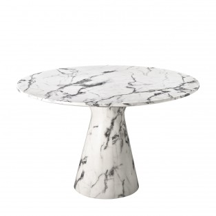 Dining Table Turner white faux marble