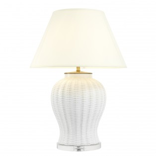 LAMPA Table Lamp Fort Meyers white ceramic 31x58x80cm