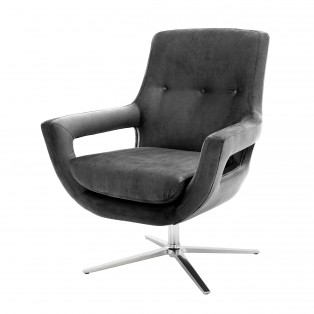 FOTEL Swivel Chair Flavio granite grey 86,5x82x99-105cm