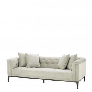 SOFA CESARE PEBBLE GREY 231x97x75cm