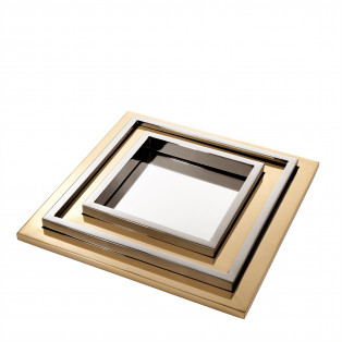TACA Tray Peckham gold finish | nickel finish set of 4