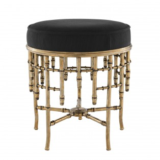 PUF Stool Alessia S vintage brass finish 45,5X50CM