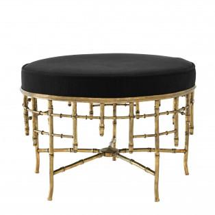 PUF Stool Alessia L vintage brass finish 69X48,5CM