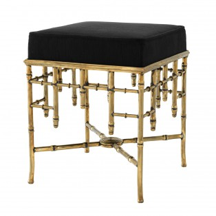 PUF Stool Cecilia vintage brass finish 40X40X48,5CM