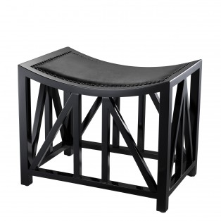 PUF Stool Azarro piano black finish 52X35X42,5CM