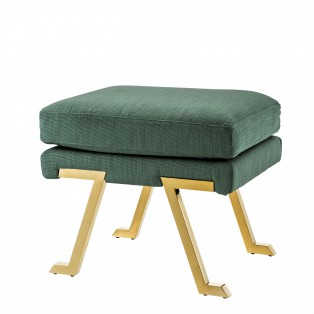 PUF Stool Savoy gold finish albin green 60X46X50CM