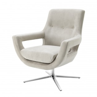 FOTEL Swivel Chair Flavio pebble grey 86,5X82X99-105CM