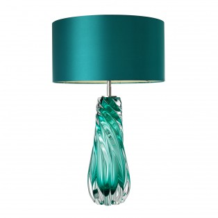 Lampa Table Lamp Barron turquoise nickel finish 17x42x67cm