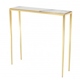 KONSOLA Console Table Henley gold finish 90X24,5X90 cm