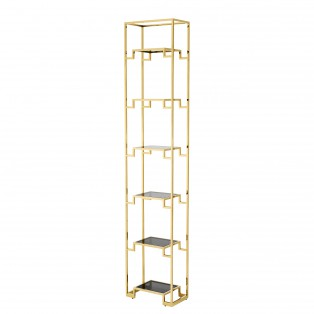 REGAŁ Cabinet Berndorff Small gold finish 45,5X25,5X221CM