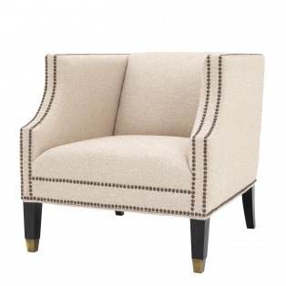 FOTEL Chair Doheny carreaux sand