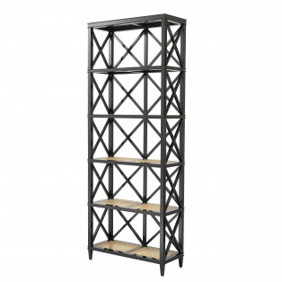 REGAŁ Cabinet Bahamas black finish 85X35X220CM