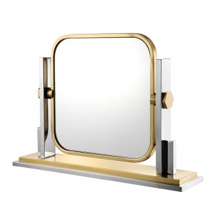LUSTRO Table Mirror Carmen gold finish66X15X47CM