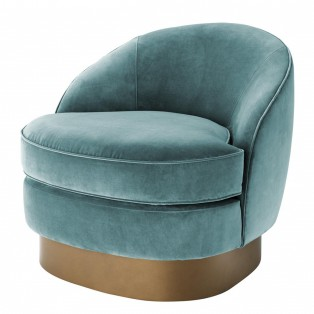 FOTEL Chair Bastide cameron deep turquoise 74X85X73CM