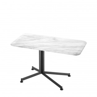 STOLIK Side Table Vito white faux marble 90X50X54CM