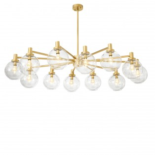 LAMPA Chandelier Selva gold finish 150X105X37CM