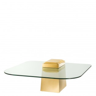 STOLIK Coffee Table Orient gold finish 105X105X44CM