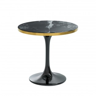 Stolik Side Table Parme black faux marble 55 x 52,5CM