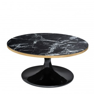 STOLIK Coffee Table Parme black faux marble 90X41CM