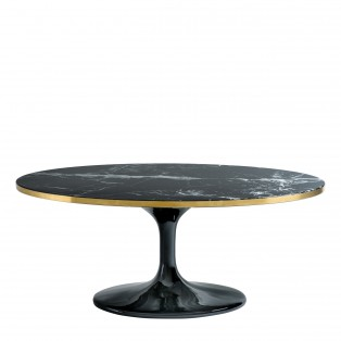 STOLIK Coffee Table Parme Oval black faux marble 120X60X50,5CM
