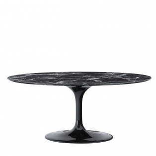 STÓŁ Dining Table Solo black faux marble 170X110X75CM