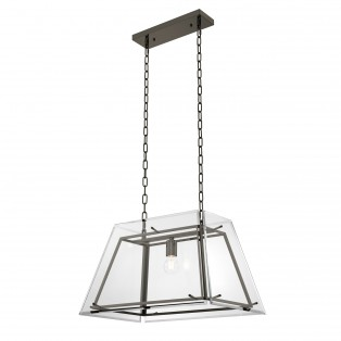 LAMPA Chandelier Azure S bronze finish bevelled glass 61X40X36CM