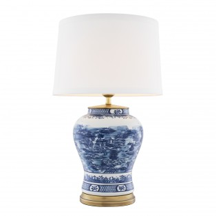 LAMPA le Lamp Chinese Blue ceramic 28X45X74,5CM