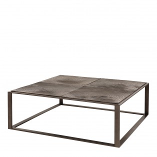 STOLIK Coffee Table Zino light bronze finish 100X100X35CM