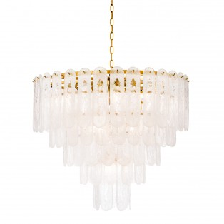 LAMPA Chandelier Riveria gold finish