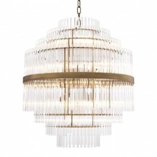 LAMPA Chandelier East antique brass finish 60X62CM