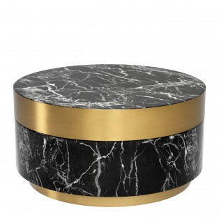 STOLIK Coffee Table Caron faux black marble brass finish