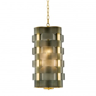 LAMPA Chandelier Martinique gold finish
