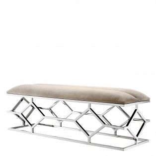 ŁAWKA Bench Trellis pebble grey 140x45x48 cm