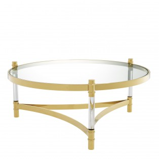 STOLIK Coffee Table Trento gold finish 104X43CM