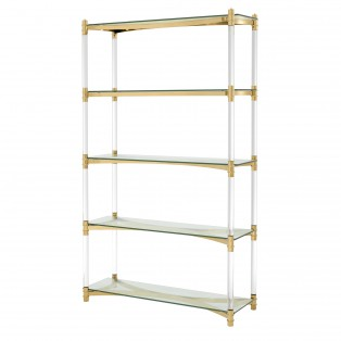 REGAŁ Cabinet Trento gold finish 117X41X200CM
