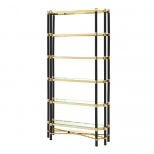 REGAŁ Cabinet Florence gold & black finish