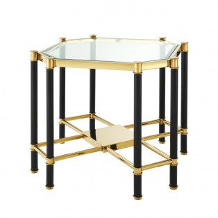 STOLIK Side Table Florence gold & black finish