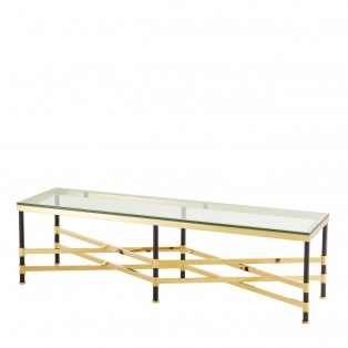 STOLIK Coffee Table Strato gold & black finish