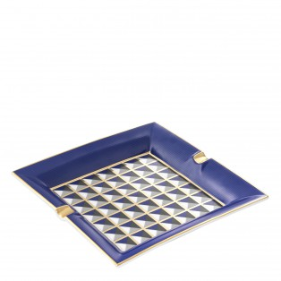POPIELNICA ASHTRAY DRAPPO BLUE 24,5X24,5X3,5CM