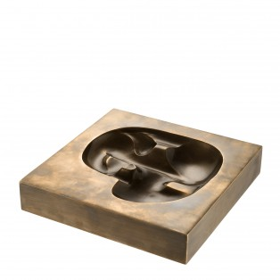 PATERA OBJECT DRAGONE BRASS 20,5X20,5X4CM
