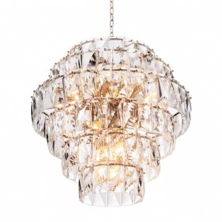LAMPA Chandelier Amazone L nickel finish UL