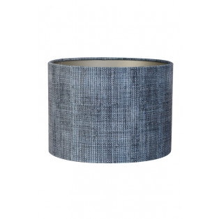 WELUROWY ABAŻUR 25X25X18 BARK BLUE LIGHT AND LIVING - MY HONEY HOME