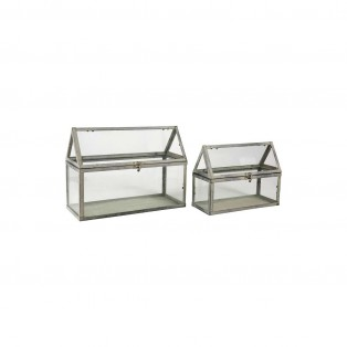DECO GREENHOUSE JARDINET GREY 28X11X21 S