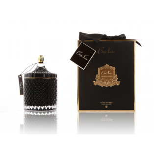 ŚWIECA ZAPACHOWA GRAND BLACK ART DECO CANDLE COTE NOIRE 17x10 cm - MY HONEY HOME