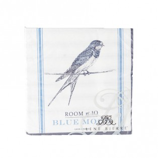 SERWETKI PAPIEROWE BLUE MOOD - 33X33CM - LENE BJERRE - MY HONEY HOME